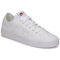 kengät Naiset Matalavartiset tennarit Nike NIKE COURT LEGACY CANVAS Valkoinen