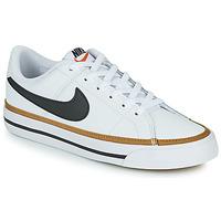kengät Lapset Matalavartiset tennarit Nike NIKE COURT LEGACY Valkoinen / Musta
