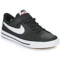 kengät Lapset Matalavartiset tennarit Nike NIKE COURT LEGACY Musta / Valkoinen