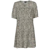 vaatteet Naiset Lyhyt mekko Vero Moda VMELIN Beige