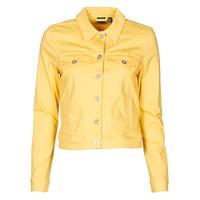 vaatteet Naiset Farkkutakki Vero Moda VMHOTSOYA Keltainen