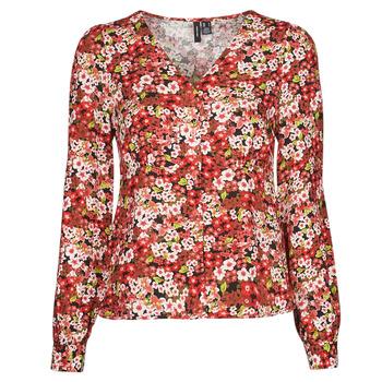 vaatteet Naiset Paitapusero / Kauluspaita Vero Moda VMSIMPLY EASY Punainen