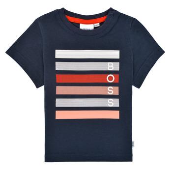 vaatteet Pojat Lyhythihainen t-paita BOSS ENOLITO Laivastonsininen