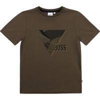vaatteet Pojat Lyhythihainen t-paita BOSS SIMEO Khaki