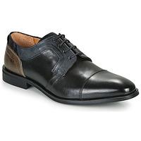 kengät Miehet Derby-kengät Redskins WINDSOR Musta / Laivastonsininen / Harmaa