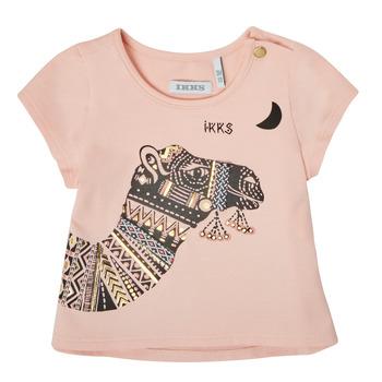vaatteet Tytöt Lyhythihainen t-paita Ikks XS10100-32 Vaaleanpunainen