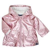 vaatteet Tytöt Parkatakki Ikks XS42010-31 Vaaleanpunainen