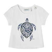 vaatteet Tytöt Lyhythihainen t-paita Ikks XS10070-19 Valkoinen