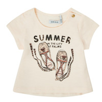 vaatteet Tytöt Lyhythihainen t-paita Ikks XS10090-11 Valkoinen