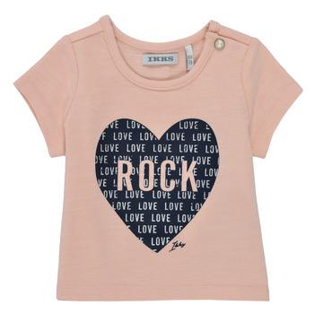 vaatteet Tytöt Lyhythihainen t-paita Ikks XS10120-31 Vaaleanpunainen