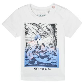 vaatteet Pojat Lyhythihainen t-paita Ikks XS10051-19 Valkoinen