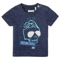 vaatteet Pojat Lyhythihainen t-paita Ikks XS10011-48 Laivastonsininen