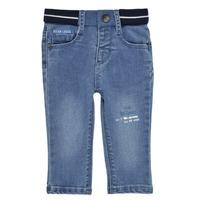 vaatteet Pojat Slim-farkut Ikks XS29001-83 Sininen
