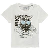 vaatteet Pojat Lyhythihainen t-paita Ikks XS10161-19 Valkoinen