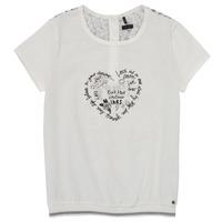 vaatteet Tytöt Lyhythihainen t-paita Ikks XS10242-19-C Valkoinen