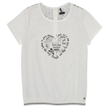 vaatteet Tytöt Lyhythihainen t-paita Ikks XS10242-19-J Valkoinen