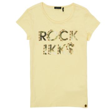 vaatteet Tytöt Lyhythihainen t-paita Ikks XS10182-73-C Keltainen
