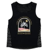 vaatteet Tytöt Lyhythihainen t-paita Ikks XS10012-02-J Musta