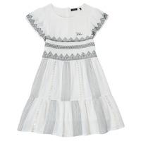 vaatteet Tytöt Lyhyt mekko Ikks XS30012-11-C Valkoinen