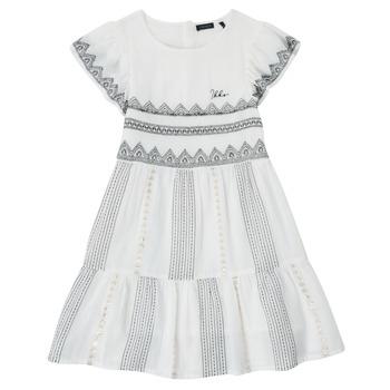 vaatteet Tytöt Lyhyt mekko Ikks XS30012-11-J Valkoinen