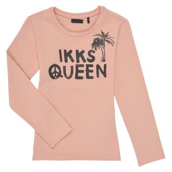 vaatteet Tytöt T-paidat pitkillä hihoilla Ikks XS10092-32-C Vaaleanpunainen