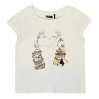 vaatteet Tytöt Lyhythihainen t-paita Ikks XS10002-11-C Valkoinen