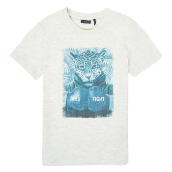 vaatteet Pojat Lyhythihainen t-paita Ikks XS10183-22-C Valkoinen