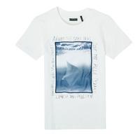 vaatteet Pojat Lyhythihainen t-paita Ikks XS10033-19-C Valkoinen