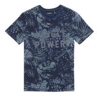vaatteet Pojat Lyhythihainen t-paita Ikks XS10153-46-C Laivastonsininen