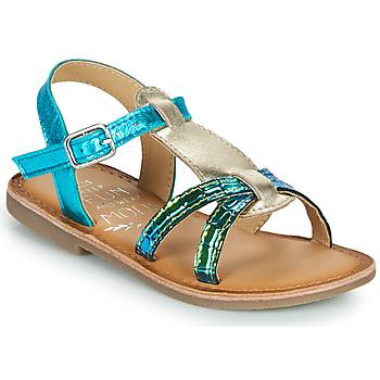 kengät Tytöt Sandaalit ja avokkaat Mod'8 CALICOT Turkoosi / Kulta