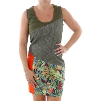 vaatteet Naiset Lyhyt mekko Smash CADIZ DRESS ARMY 38 Verde