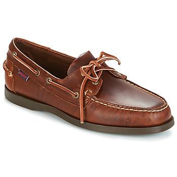 kengät Miehet Purjehduskengät Sebago DOCKSIDES Brown