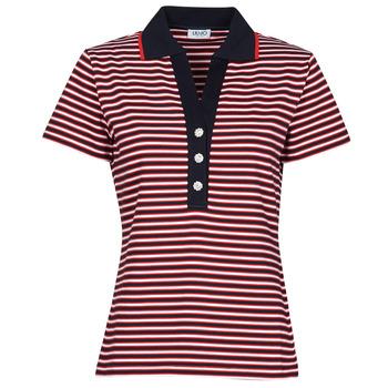 vaatteet Naiset Lyhythihainen poolopaita Liu Jo WA1142-J6183-T9701 Laivastonsininen / Valkoinen / Punainen