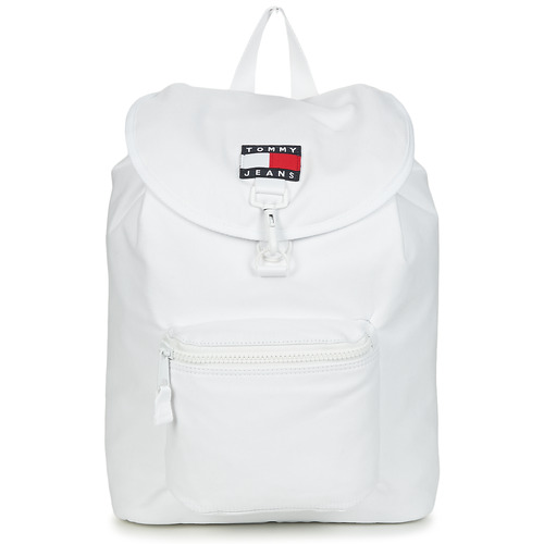 laukut Reput Tommy Jeans TJM HERITAGE FLAP BACKPACK CAN Valkoinen