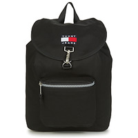 laukut Reput Tommy Jeans TJM HERITAGE FLAP BACKPACK Musta