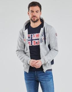 vaatteet Miehet Svetari Geographical Norway GAFONT Harmaa / Mustaruudullinen