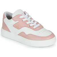 kengät Tytöt Matalavartiset tennarit BOSS PAOLA Valkoinen / Vaaleanpunainen