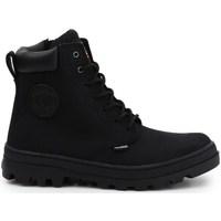 kengät Naiset Bootsit Palladium Manufacture Pallabosse SC Waterproof Mustat