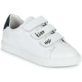 kengät Naiset Matalavartiset tennarit Bons baisers de Paname EDITH KISS ME Valkoinen