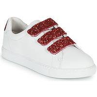 kengät Naiset Matalavartiset tennarit Bons baisers de Paname EDITH BACK LIPS Valkoinen