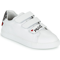 kengät Naiset Matalavartiset tennarit Bons baisers de Paname EDITH SWEET HEART Valkoinen
