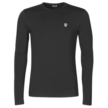 vaatteet Miehet T-paidat pitkillä hihoilla Emporio Armani EA7 8NPTL9-PJ03Z-1200 Musta