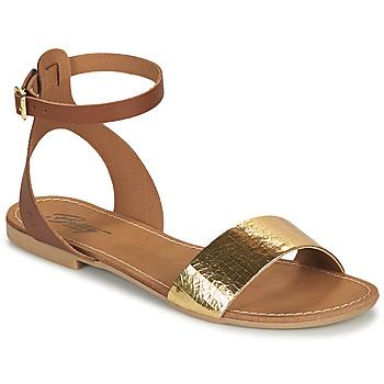 kengät Naiset Sandaalit ja avokkaat Betty London GIMY Kamelinruskea / Kulta