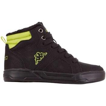 kengät Miehet Korkeavartiset tennarit Kappa Grafton Mustat, Keltaiset