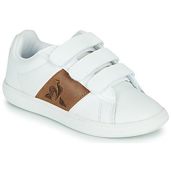 kengät Lapset Matalavartiset tennarit Le Coq Sportif COURTCLASSIC PS White / Brown