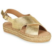 kengät Naiset Sandaalit ja avokkaat Minelli MEPLATINE Kulta