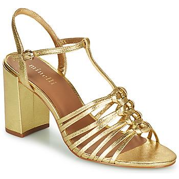 kengät Naiset Sandaalit ja avokkaat Minelli THERENA Kulta