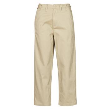 vaatteet Naiset Chino-housut / Porkkanahousut Tommy Jeans TJW HIGH RISE STRAIGHT Beige