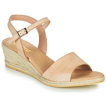kengät Naiset Sandaalit ja avokkaat So Size OTTECA Beige