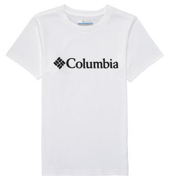 vaatteet Pojat Lyhythihainen t-paita Columbia CSC BASIC LOGO YOUTH Valkoinen